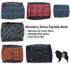 WATERPROOF DOG BELLY BAND NAPPY / URINE MARKING / INCONTINENCE - POPPERS -TARTAN
