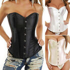 Women Lace up Overbust Corset Top Bustier Steampunk Waist Training Cincher NC1