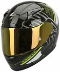 Scorpion Exo Ipsum 2000 Black Green Full Face Motorcycle Helmet RRP £299.99!!