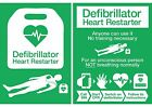 NEW UPDATED 2017 AED DEFIBRILLATOR POSTER SIGN STICKER