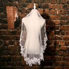 1 Layer white Ivory Appliques Lace wedding Veil Bridal Accessories Veil withComb