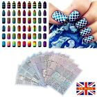 NAIL ART VINYL STENCIL GUIDE STICKER MANICURE STENCIL STICKERS HOLLOW NAIL ART