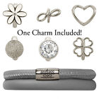 Endless Jewelry StarterKit Grey Double Bracelet & Charm (Authorized Retailer)