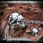 punk visual ROCK warcraft orc shaman beast skull titanium steel ring【J1A649】