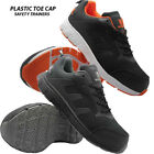 MENS PLASTIC COMPOSITE TOE PLASTIC NON-METAL SAFETY TRAINER BOOT SHOES AIRPORT