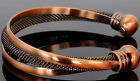 Womens Bronze Bangle Torque Copper Magnetic Bracelet Healing & Beautifying -TRW