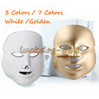 Gold LED Mask Skin Rejuvenation Therapy For Wrinkles 7 Colors Photon Facial Mask