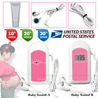 US Stock, Pocket Fetal Doppler, LCD Prenatal Heart Monitor, Baby Heart Beat, Gel