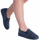 New Womens Ladies Trainers Comfy Slip On Flat  Casual Sneakers Pumps Shoes Size