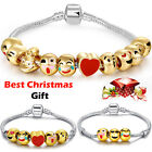 18k Gold Plated 3D Beads Emoji Bracelet Awesome Gift For Ladies Girls Women