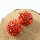 2pcs Mixed Colors Brass 23mm Jingle Mexican Bola Bell Ball Crystal Ctafts 52815