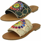 WHOLESALE Ladies Flat Stitched Vamp Mules / Sizes 3-8 / 18 Pairs / F00080