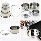 Stainless Steel Hanging Food Water Feeding Bowl Dish Cup For Pet Dog Cat Parrot