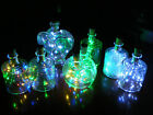 Glass Bottles With 20 LED Battery Lights Inc Xmas Party Wedding Table 6 Colours!
