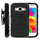 For Samsung Galaxy Core Prime G360 Rugged Hybrid Holster Belt Clip Case Armor