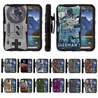 For Samsung Galaxy S5 Active G870 Stern Hybrid Holster Belt Clip Case Armor