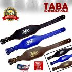 "TABA Back Support Weight Lifting 4"" & 6"" Leather Belt Gym Power Fitness Training"
