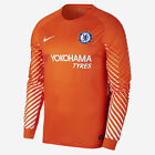 Nike 2017/18 CHELSEA FC GOALKEEPER MEN LONG-SLEEVE FOOTBALL SHIRT-S,M,L,XL Or2XL