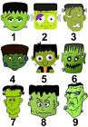 Frankenstein Halloween Small or Large Sticky White Paper Stickers Labels NEW