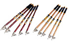 Red and Yellow Sea Pole Cast Pole Mixed Carbon Telescopic Fishing Rod