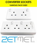 1 Gang Single Or 2 Gang Double To 3 Gang Triple 13 Amp Switched Converter Socket