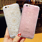 Lace Pattern Matte Dirtproof Silicone Rubber TPU Case Cover for iPhone 6 6s Plus