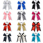 """13color 7"""" Cheerleading Girl Glitter Cheer Bow Sparkly Hair Bows Ponytail Holder"""
