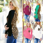 Sexy Women's Ladies Long Sleeve Leopard Chiffon Blouse Shirt Tops T-Shirt New