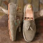 Retro Mens Suede Loafters Tassels Causal Slip On Boat Moccasins Leisure Shoes