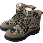 Mens Faux Fur Linned Lace Up Shoes Camo Army Ankle Boots Warm Winter Stylish
