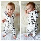 Newborn Baby Boys Girls Cute Romper Bodysuit Jumpsuit Outfits Sunsuit Clothes