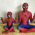Black Red SpiderMan Superhero Kids Mens Boys Fancy Dress Costume Halloween Lot