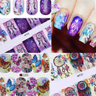 12Patterns Water Decals Nail Art Transfer Stickers Big Sheet  Decoration