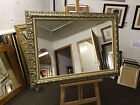 STUNNING 100mm ORNATE GOLD AND IVORY WALL AND OVERMANTLE MIRRORS - VARIOUS SIZE
