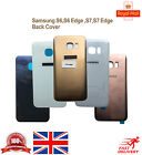 ORIGINAL SAMSUNG BACK REAR GlASS BATTERY COVER S6 EDGE, S7 EDGE WITH ADHESIVE