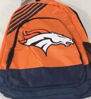 NFL 2019 NEW NWT LICENSED Denver Broncos Backpack School Bag Book Laptop 18x13x6