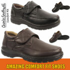 Mens Black Brown Comfortable Lightweight Touch Strap Shoes 6 7 8 9 10 11 12 New