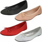 WHOLESALE Ladies Satin Ballerinas / Sizes 3-8 / 18 Pairs / F80325