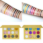 12 Color Diamond Glitter Rainbow EyeShadows Makeup Pressed Palette Charming