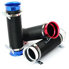 """FLEXIBLE COLD AIR INTAKE DUCT HOSE TUBE PIPE 76MM 3"""" BLACK BLUE RED OR SILVER"""
