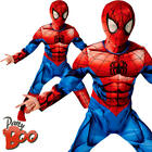 Deluxe Ultimate Spiderman Childrens Fancy Dress Superhero Book Day Boys Costume