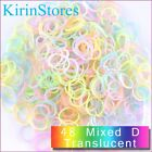 Rubber Bands 600 PCs 24 Clip Refills Bands Refill For Rainbow Loom Bracelet Kits