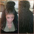Pre Plucked 360 Lace Frontal Wigs Afro Kinky Curly Human Hair Wigs 150% Density