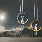 Moon Cat Cute Animal Necklaces Pendant Simple Necklace Women Fashion Jewelry New