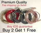 10FT Aluminum Braided USB Charger Cable Sync Cord For iPhone x,Plus8,6,xs MaX,XR