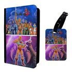 He Man Cartoon Evil Lyn Skeletor Luggage Tag & Passport Holder - T955