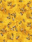 Bee Hive Fabric Honey Bees Honeycomb Beekeeping Insect Cotton Fabric Yardage
