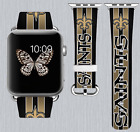 New Orleans Saints Apple Watch Band 38 40 42 44 mm IWatch PU Leather Strap 187 $24.99 USD on eBay