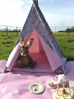 TEEPEE WIGWAM CHILDRENS PLAY TENT WATERPROOF indoor/outdoor Blue Polka Floral