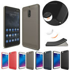 Ultra Thin Brushed Armor Shockproof Hybird Rubber Case Cover For Nokia 3 5 6